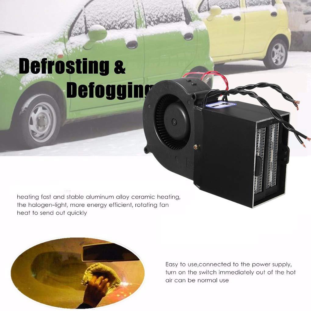 ELENXS Elenx 12V PTC 300W 500W Chauffe-Voiture r/églable Ventilateur de Chauffage Automatique Thermostat Automatique en c/éramique Accessoires Voiture D/égivreur