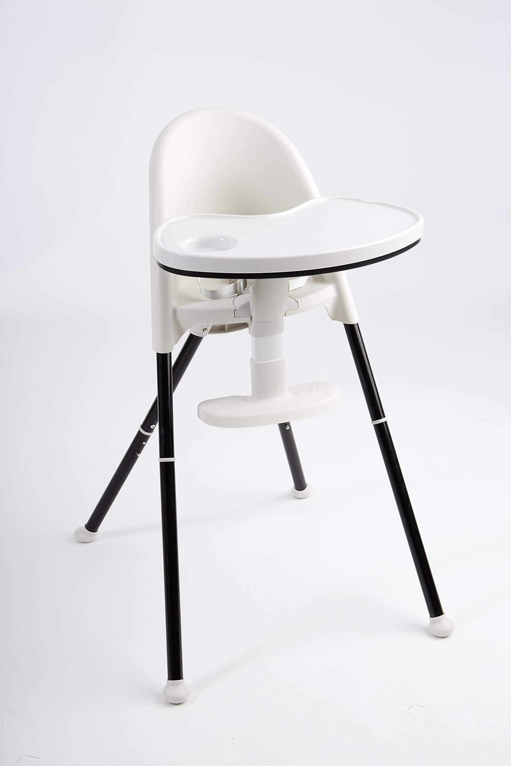 Primo Cozy Tot Deluxe Convertible Folding High Chair & Toddler Chair - Black, Black/White