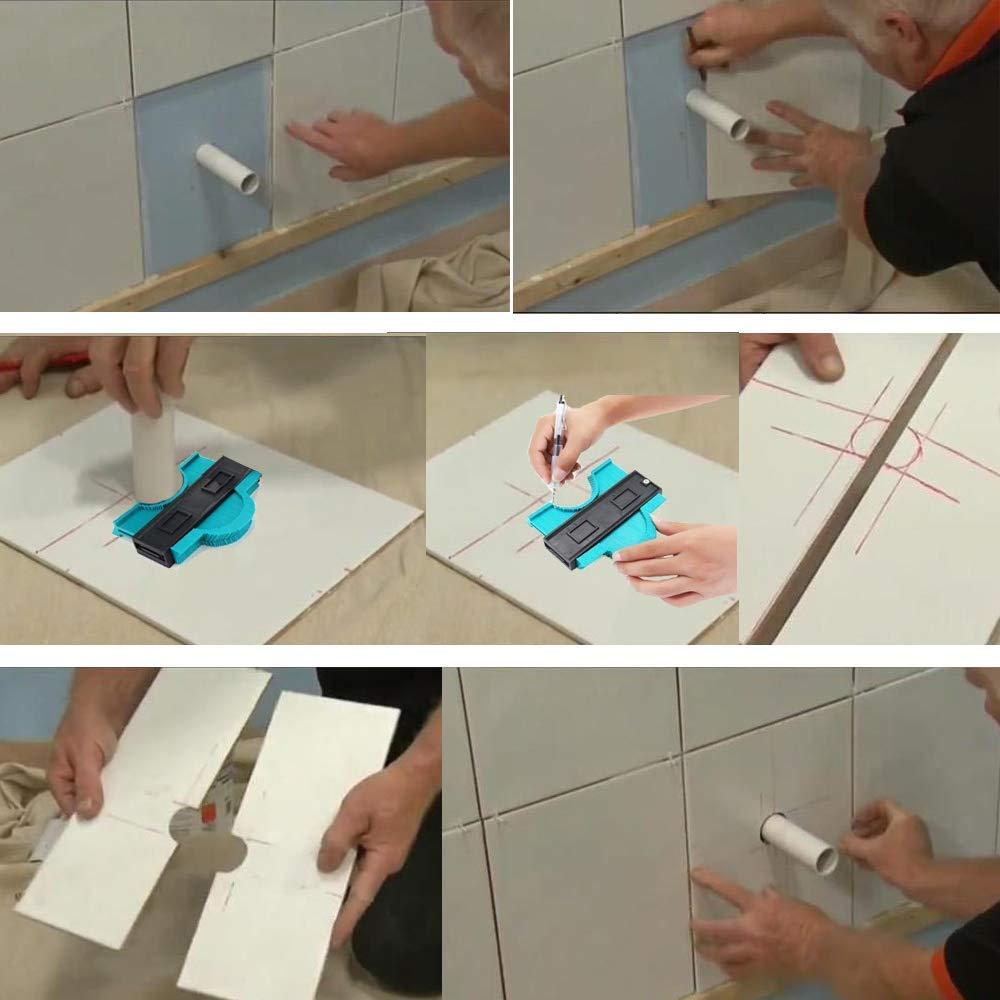 YIHAIC Perfil Gauge,ABS Perfil Gauge,Medidor de Contornos,Contour Gauge pl/ástico Duplicator Ideal para Azulejos Edge Shaping Professional Madera Medida /& Azulejos laminados Tiles General Tools