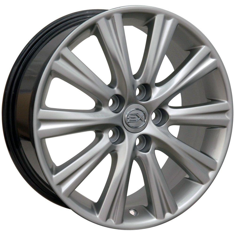 OE Wheels 17 Inch Fits Lexus ES GS HS IS LS RX SC Toyota Avalon Camry Matrix Prius V Rav4 Sienna ES 350 Style LX43 Hyper Silver 17x7 Rim Hollander 74191