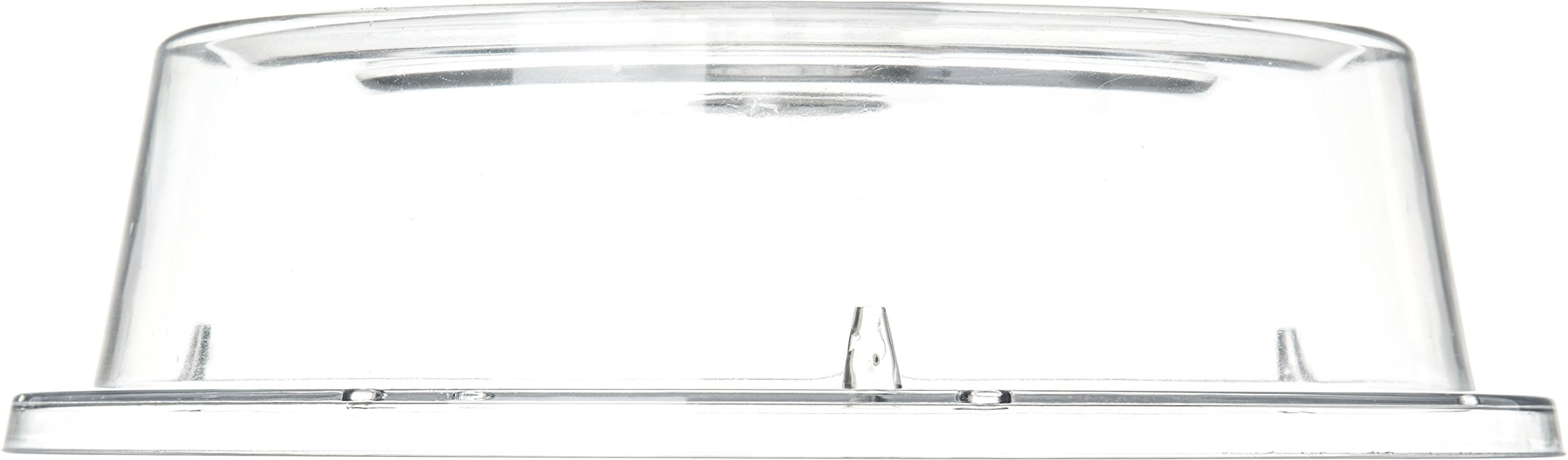 Carlisle 190007 Polycarbonate Plate Cover, 9.37'' Bottom Diameter x 2.56'' Height, Clear (Case of 12) by Carlisle (Image #3)