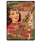 Rivers Edge Products Wife Will Sell Guns Tin Sign