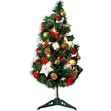 BANBERRY DESIGNS Small Artificial Christmas Tree Combo Set - Approx. 2 Foot  Tall Pine Xmas - Amazon.com: BANBERRY DESIGNS Small Artificial Christmas Tree Combo