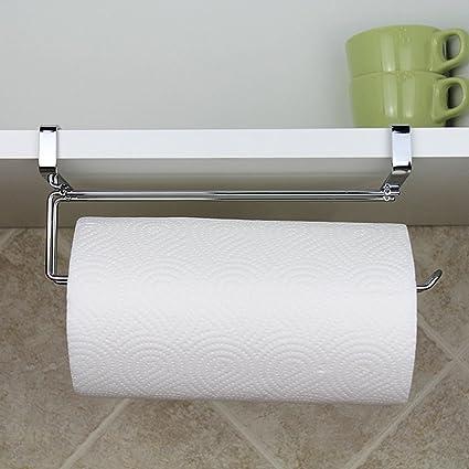 kitchen roll holder paper towel holder under cabinet shelf stainless rh amazon co uk