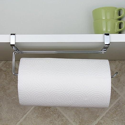 Kitchen Roll Holder Paper Towel Holder Under Cabinet Shelf ...