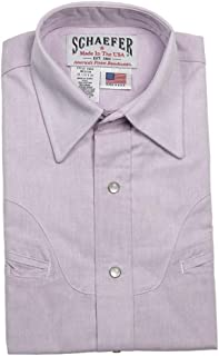 product image for Schaefer Outfitters Men's Purple Vintage Chisholm Chambray Shirt - 6062-Pr