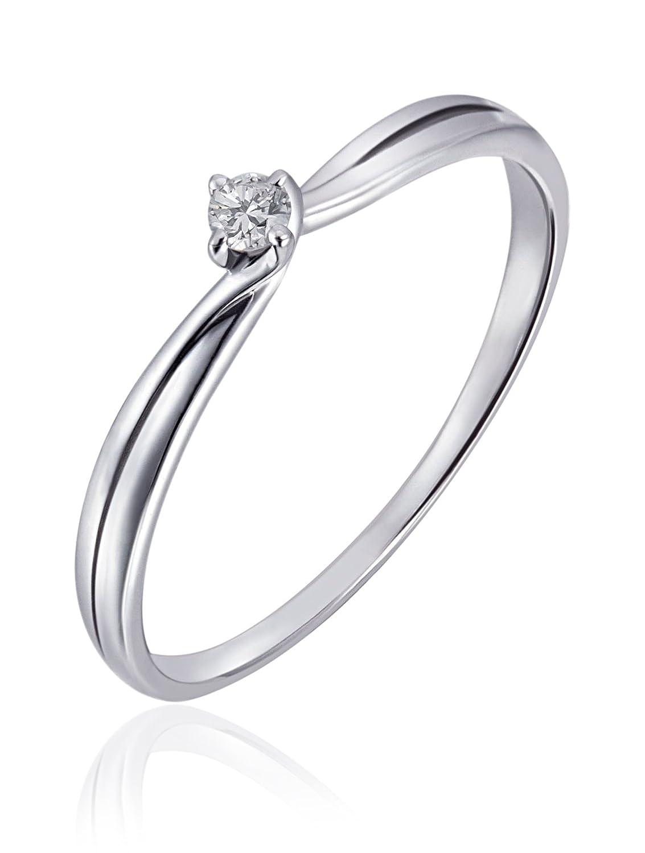 Weißgold verlobungsring  Goldmaid Damen-Ring 9 Karat 375 Weißgold Verlobungsring Solitär 1 ...