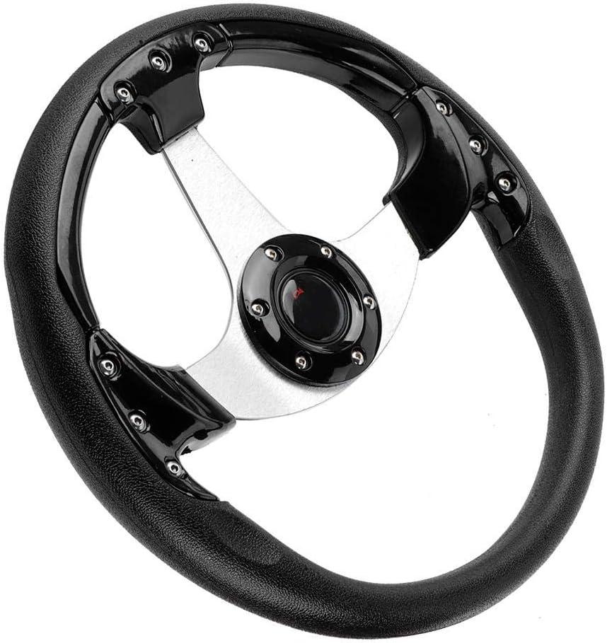 Nero Goregri Volante da corsa volante universale da competizione sportivo in pelle PU da 320 mm//13 pollici 350 mm//14 pollici