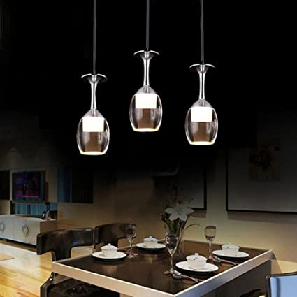 Fuloon Elegante Shade Art Deco Copa de Vino Luz Colgante Mini Max 9W ...