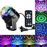 #7: Sound Activated Party Lights with Remote Control Dj Lighting, RBG Disco Ball, Strobe Lamp 7 Modes Stage Par Light for Home Room Dance Parties Birthday DJ Bar Karaoke Xmas Wedding Show Club Pub