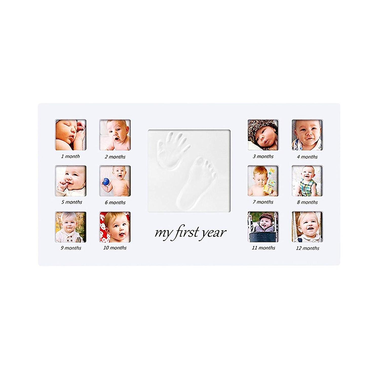 Regalo per Nascita e Battesimo #1 CHSEEO Cornice Impronta Bambino Neonato Kit Porta Foto e Impronte di Mani e Piedi per Bambini e Bambine Bambino Keepsake Regalo