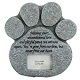 Nova Microdermabrasion Paw Print Pet Memorial Stone Photo Frame Tombstone Grave Maker with Loss Comforting Poem For Dog or Cat Outdoor Tombstone Indoor Display For Sale