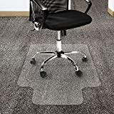 CHAIR MAT PVC for Carpet Floor | Floor Protector for High Pile Carpets | 2mm Thick | Studded Backing Have Lip,90x120cm(35.4''x47'')-StuddedBacking