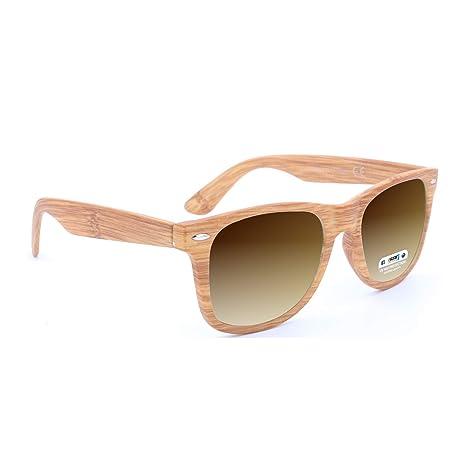 0e0c3a8d34 ISURF EYEWEAR Occhiali da Sole Modello Blues Brothers Effetto Legno  Specchio SPECCHIATI Outfit