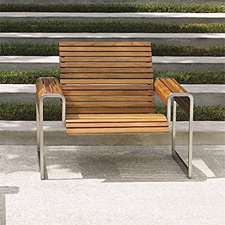 Tommy Bahama Tres Chic Patio Lounge Chair In Natural Teak
