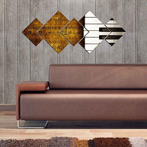 Panels Decorative Mdf (LaModaHome Decorative 100% MDF Wall Art 5 Panels (47