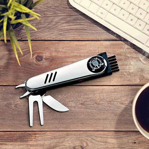 Groomsmen Golf - Center Gifts Golf Multi-Tool with Belt Pouch Personalized   Custom Multipurpose Pocket Knife Mini Tool, Stainless Steel   Great Gift for Dad, Groomsmen, Best Man, Father's Day, Birthday   Engrave wi