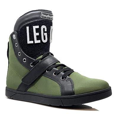 d605763ef0870 Amazon.com | Heyday Footwear Olive/Black Super Shift High Top ...