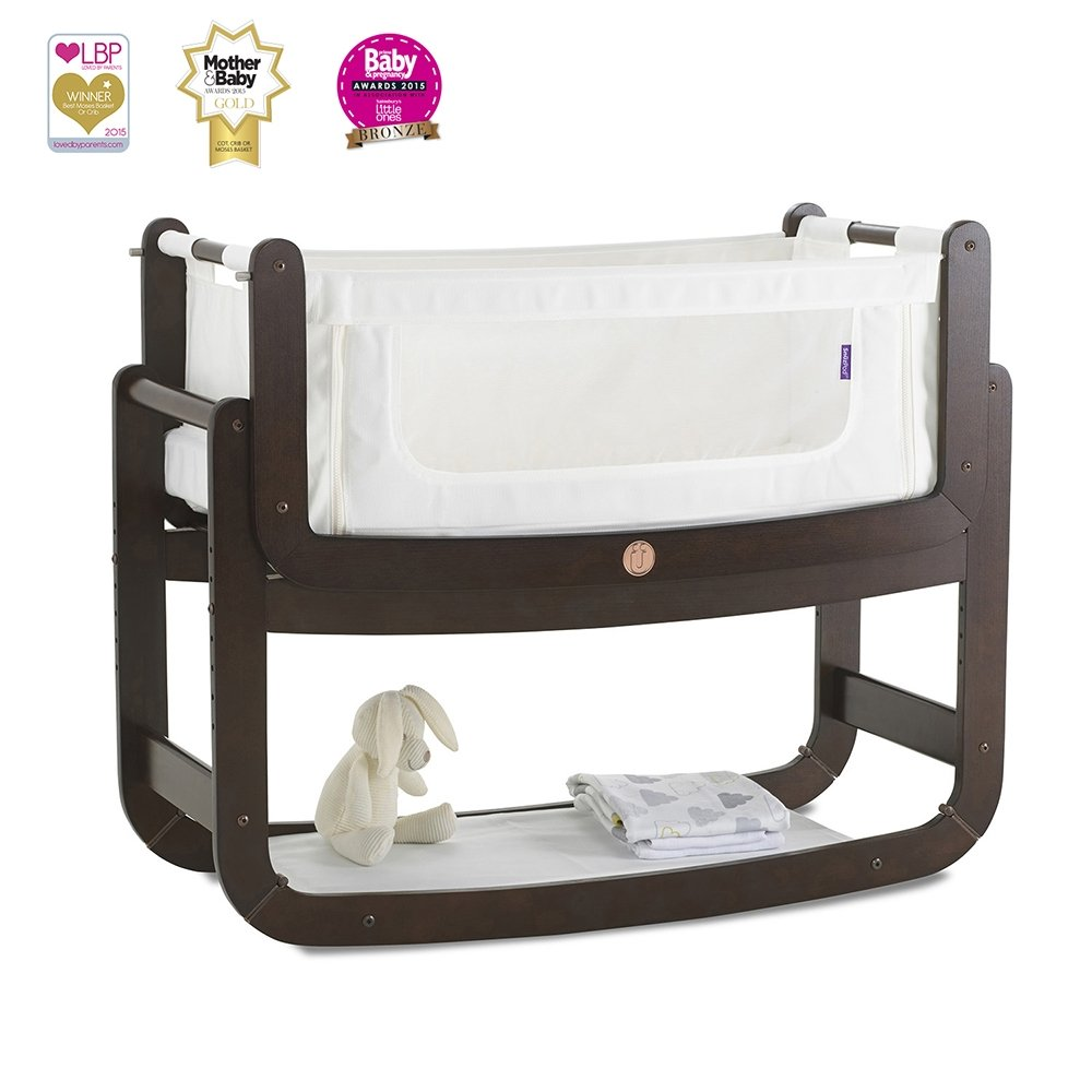 SnuzPod 3 in 1 Bedside Crib (Espresso) newborn sleep pattern Newborn sleep pattern – sleep aids and gadgets to help your baby sleep 612uvNY4nyL