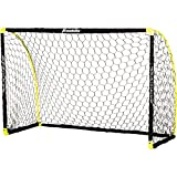 Franklin Sports Portable Soccer Goal - Kids Backyard Soccer Net - 6 x 4 Foot - All-Weather, Durable, Easy Storage - Blackhawk Goal