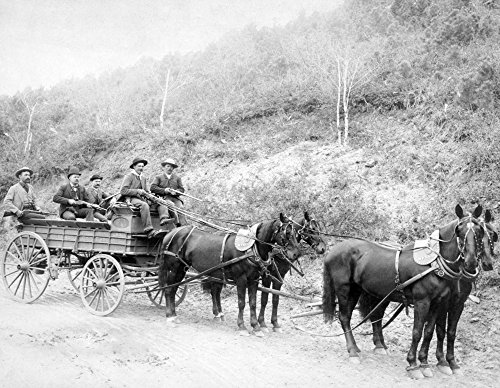 Wells Fargo Express Company Wagon And Guards Carrying Gold From Mine Photograph  16X24 Signed Print Master Giclee Print W  Certificate Of Authenticity   Wall Decor Travel Poster