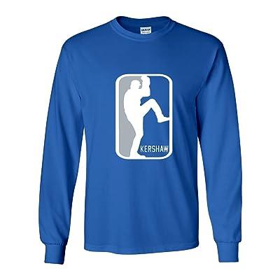 "Silo Shirts LONG SLEEVE BLUE Clayton Kershaw Los Angeles ""LOGO"" T-Shirt"