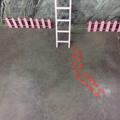 12 X Fairy Footsteps. PVC Fairy Footprints for Fairy Door. Superhero Footsteps. Elf and Pixie Feet, Tiny Feet for The Tooth Fairy (Door Pixie)