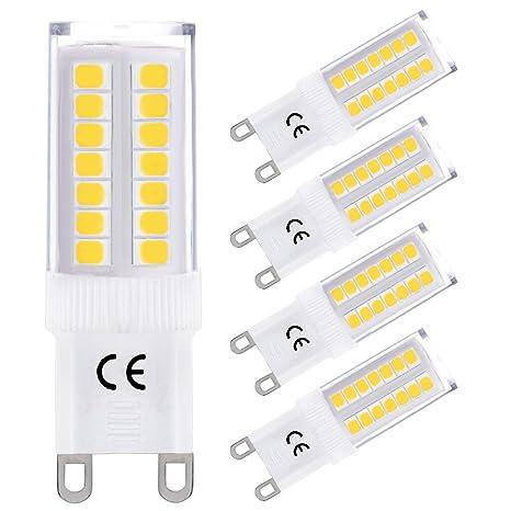LOHAS® 4x G9 Bombillas LED 5W equivalentes a Lámparas halógenas de 40W, Blanca Neutra