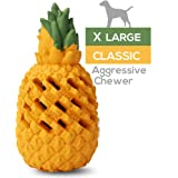 M.C.works Pineapple Dog Chew Toys for Aggressive Chewer, Tough Dog Dental Chews Toy, Indestructible Dog Toys for Large Dogs, Puppy Chew Toys Food Grade Non-Toxic.
