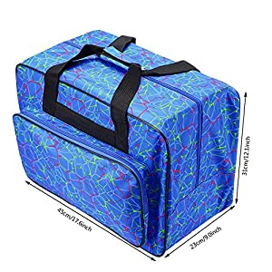 Sewing Machine Tote Bag Waterproof Carrying Bag Padded Storage Case with Pockets and Handles (US Stock) by Tomasar