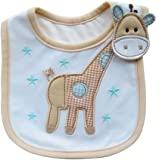 Lovely Cute Cartoon Pattern Toddler Baby Waterproof Saliva Towel Baby Bib (Giraffe Pattern) by Broadfashion
