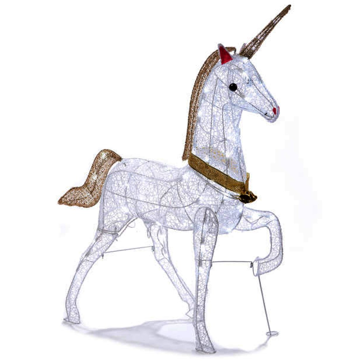 Christmas Glitter Unicorn Lighted Yard Art Decoration Indoor / Outdoor 40 Inch by Winter Wonder Lane
