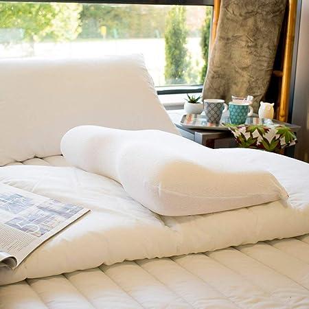 Blanc CAIGOGOO Oreiller c/ôt/é Oreiller en Forme de U-C/ôt/é Dormeur Appui-T/ête Voyage Anti-Ronflement Coussin Mou Coussin Cervical Ergonomique