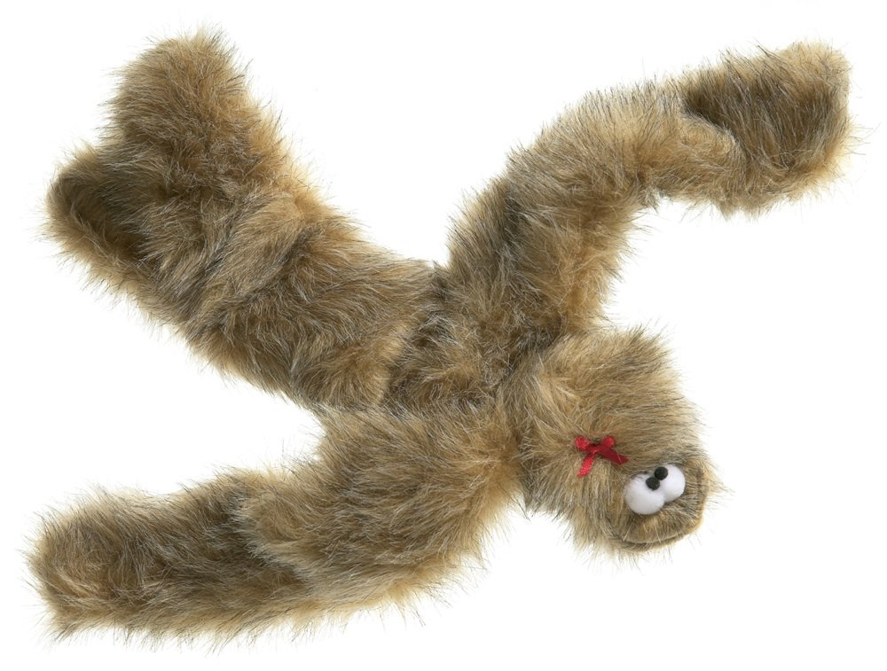 Brown Fur West Paw Design Tango Tug and Squeak Toy for Dogs, Brown Fur