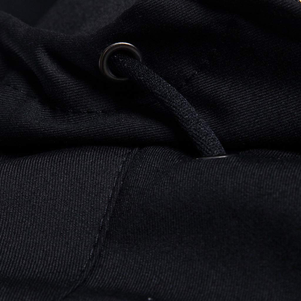 Simayixx Men's Jacket Men's Mountain Waterproof Ski Coats Windproof Rain Hoodie Sweatshirts Workout Zipper Tops Shirts 2XL Black by Simayixx (Image #6)