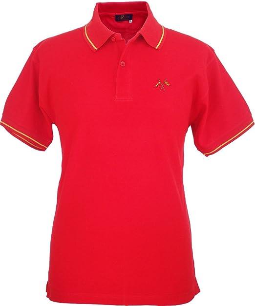 Pi2010 - Polo Hombre Rojo con Bordado Bandera de España en Pecho ...