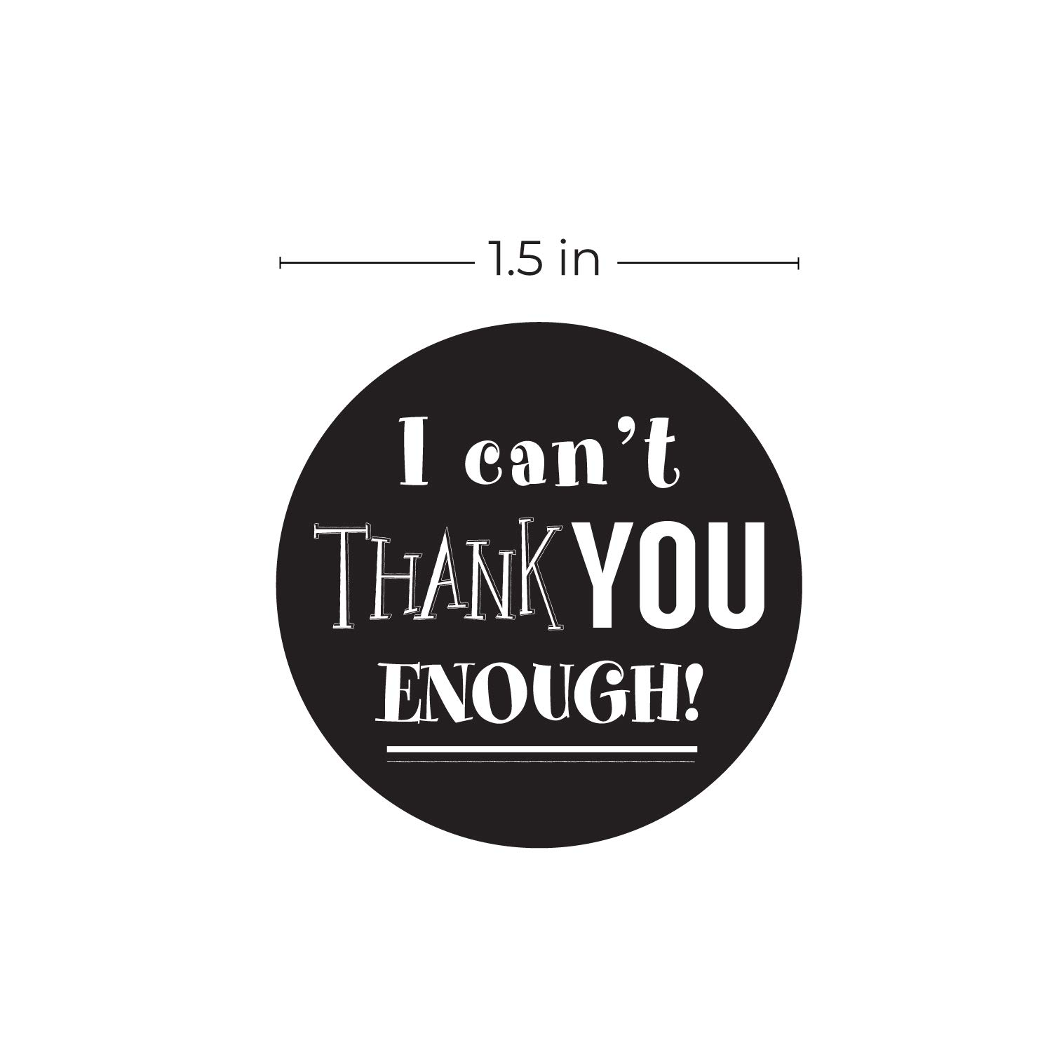"""SBLABELS Retro Chalkboard Thank You Stickers - 1.5\"""" Circle Labels / 500 per Pack 810FHtuGaIL"""