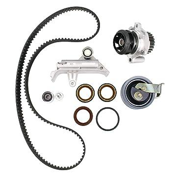 AUCERAMIC Timing Belt Kit with Water Pump and Tensioner for 2000-2006 AUDI TT QUATTRO