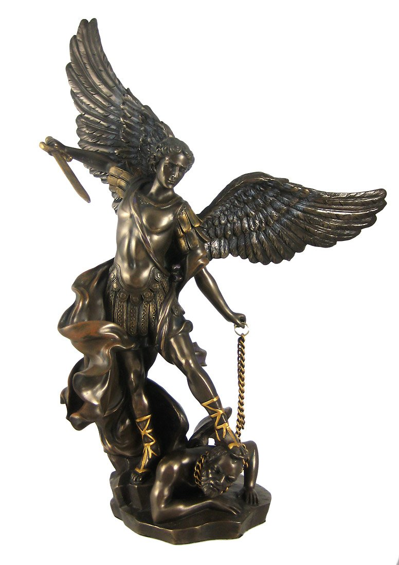 Amazon St Michael The Archangel Bronze Look Statue Saint Home