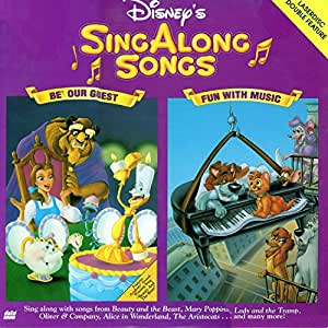 disney 39 s sing along songs be our guest fun with music laserdisc movies tv. Black Bedroom Furniture Sets. Home Design Ideas