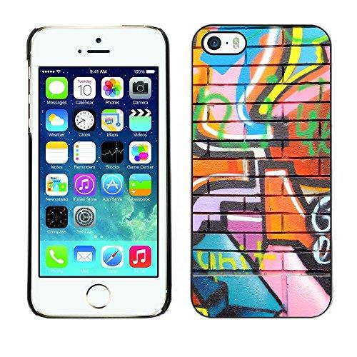 Premio Sottile Slim Cassa Custodia Case Cover Shell // V00002250 Graffiti // Apple iPhone 5 5S 5G