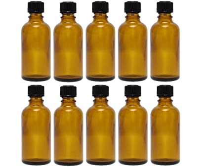 Gota botellas botellas de cristal (Juego de 10 piezas con tropfei nsatz de color marrón