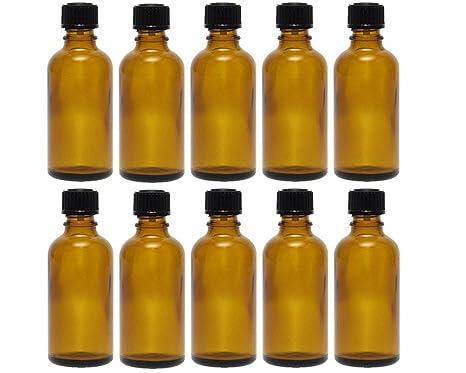 Gota botellas botellas de cristal (Juego de 10 piezas con tropfei nsatz de color marrón cristal, ...