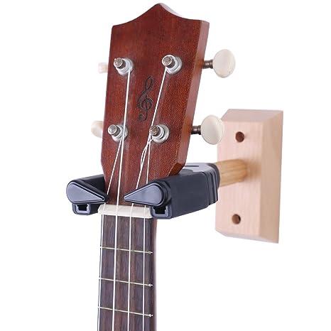 Soporte de pared PUNK para violín, viola, ukelele, con diseño de autobloqueo,