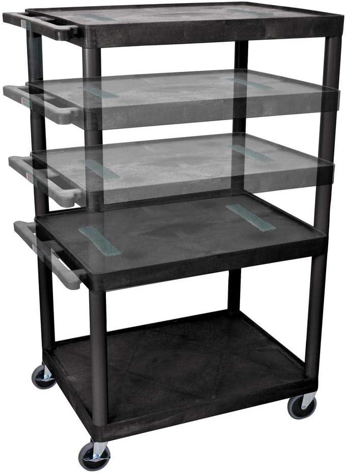 Luxor Lelduo B Endura Multi Height Av Cart 3 Shelves Amazon Ca Electronics