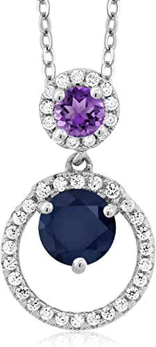 1.02 Ct Purple 925 Sterling Silver Earrings Made With Swarovski Zirconia