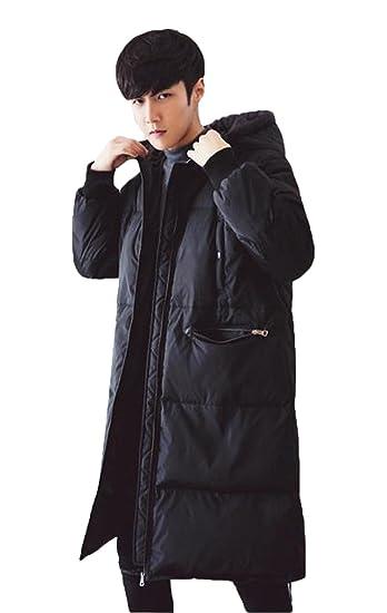 BAJIAN 棉ジャケット 中綿 ブルゾン メンズ アウター ダウンコート ジャンパー ロング ライト 防寒 2017 冬 冬服 冬物