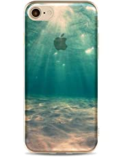 For iPhone 8 Case, For iPhone 7 Soft TPU Case, CrazyLemon Transparent Ultra Slim Fit Scratch Resistant Non-Slip Practical Cover Case For iPhone 8 / iPhone 7 4.7 inch - Embossing Landscape Seabed