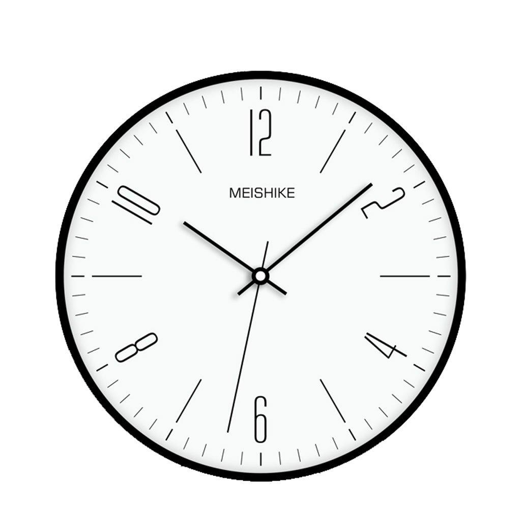 現代北欧アメリカンミニマリズム静かなリビングルームのベッドルームオフィスシンプルな時計の壁時計クォーツ時計のテーブル B07F8WNZ9S
