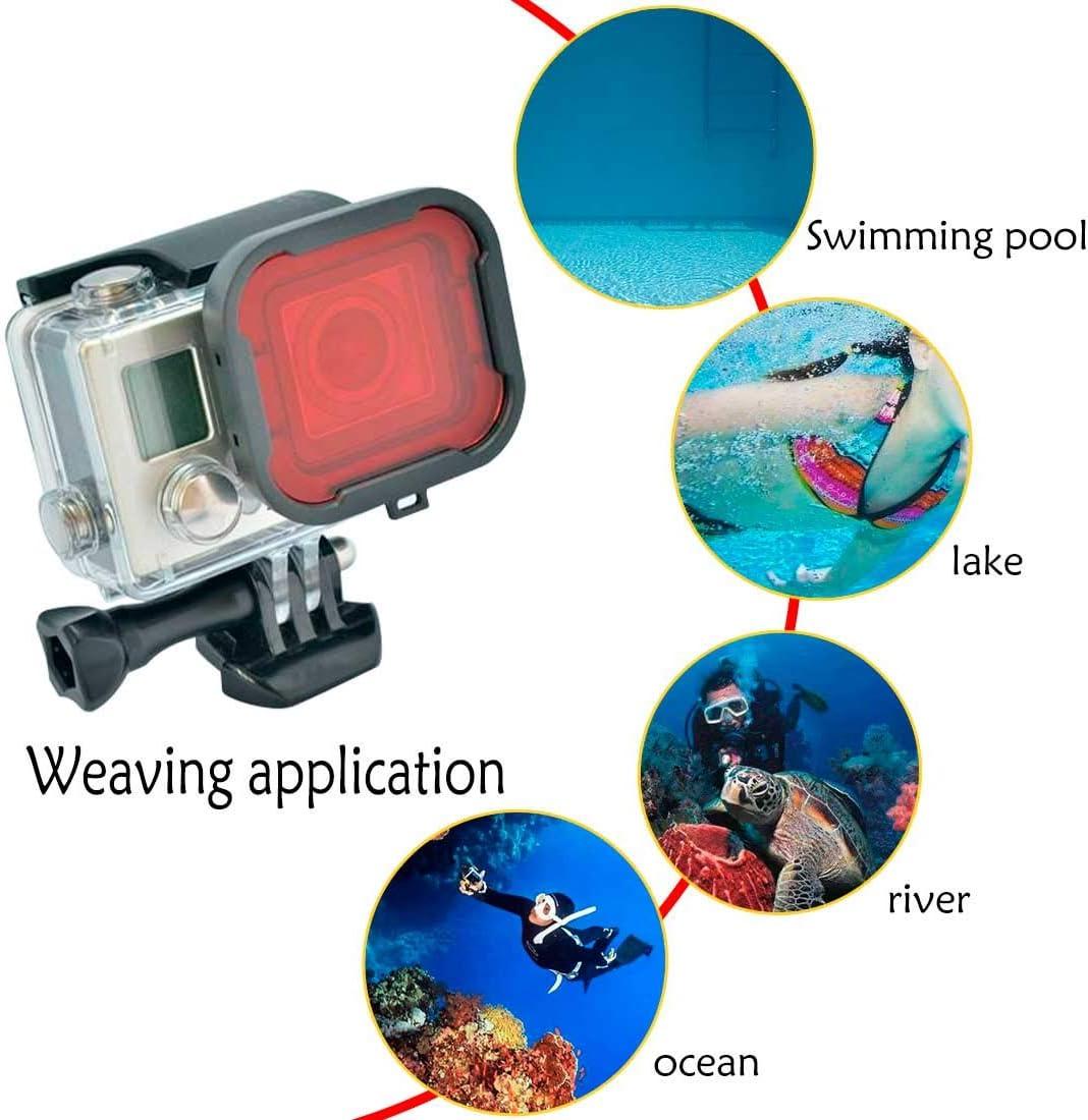 uu19ee C/ámara Traje Negro Caja de la Carcasa Cubierta de la Lente del Filtro de Buceo Submarino Filtro UV para GoPro Hero 4 3+